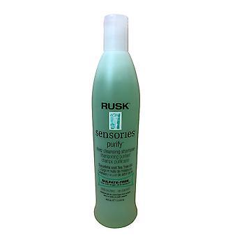 Rusk Sensories Purify Shampoo Cucubrita & Tea Tree Oil Sulfate Free 13.5 OZ