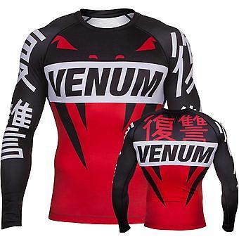 Venum revenge rash guard - red