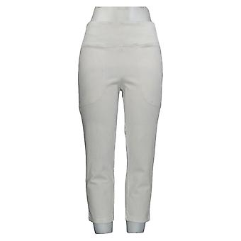 Wicked by Women with Control Women's Pants Stretch Denim Crop White A377542
