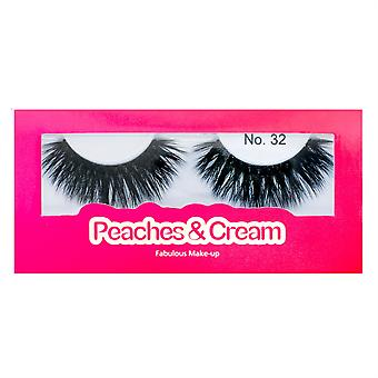 Peaches and Cream False Mink Eyelashes - Style No. 32 - Criss Crossed Lashes