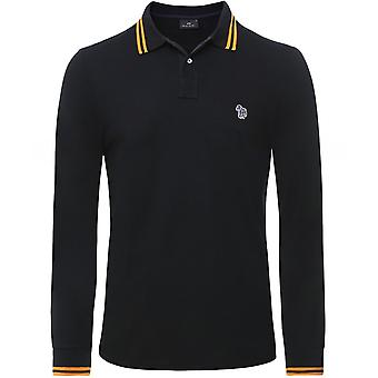 Paul Smith Slim Fit Long Sleeve Tipped Zebra Polo Shirt