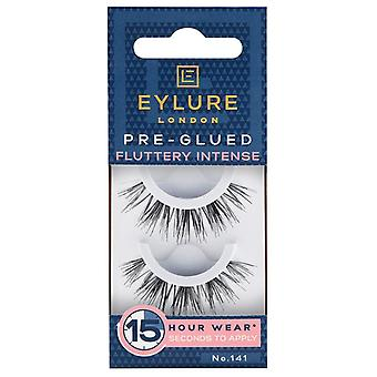 Eylure Fluttery Intense Pre Glued Black False Lashes - 141 - Exaggerate Falsies