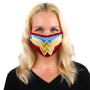 Wonder Woman Symbol mit Sternen Gesicht Abdeckung