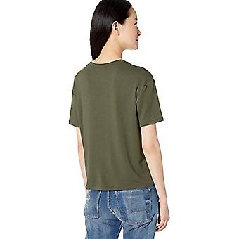 Brand - Daily Ritual Women's Supersoft Terry Short-Sleeve Boxy Pocket ...