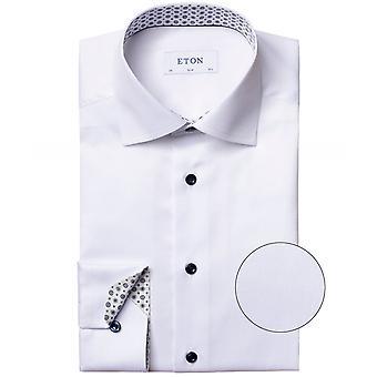 Eton Slim Fit Medallion Trim Shirt