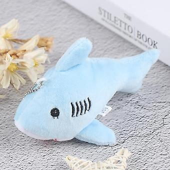 12cm Cute Soft Simulation Shark Plush Key Chain Pendant Toys, Cartoon Whale