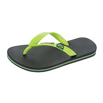 Ipanema Rio II Kids Beach Flip Flops / Sandals - Black and Green