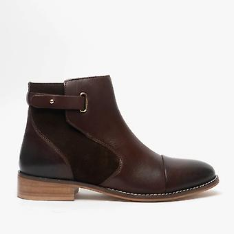 Hush Puppies Hollie Ladies Leather Ankle Boot Brown