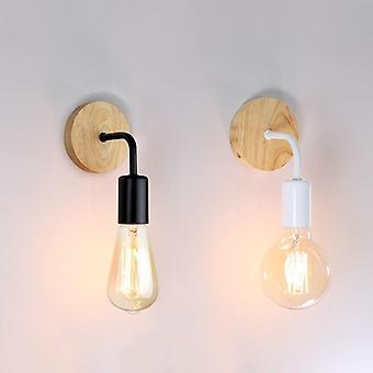 Wood Wall Lamp,  Vintage Sconce Wall Lights Fixture E27 110v 220v