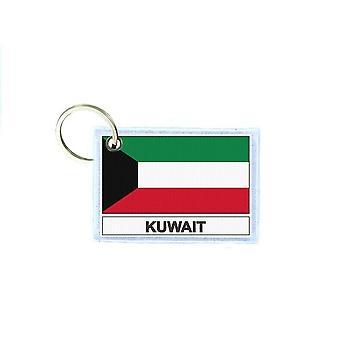 Porte cles cle clefs imprime double face drapeau KWT koweit