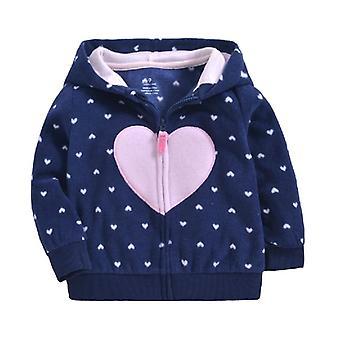 Syksyn ja talven lämmin hupullinen takki vauvalle / vaatteille