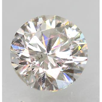 Zertifiziert 0.46 Karat F VVS2 Round Brilliant Enhanced Natural Loose Diamond 4.86m