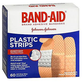 Johnson & Johnson Band-Aid Plastic Strips Bandages, 60 each