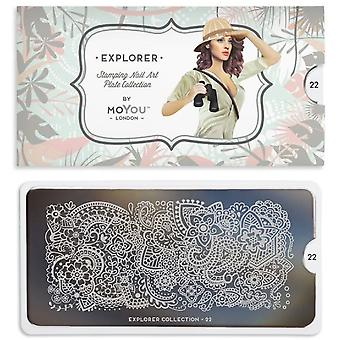 MoYou London Nail Art Image Plate - Explorer 22 (mpexp22)