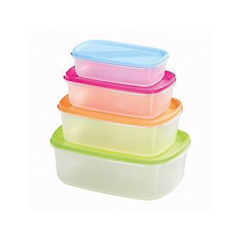 Chef Aid Rectangular Storage Containers x 4 10E31162