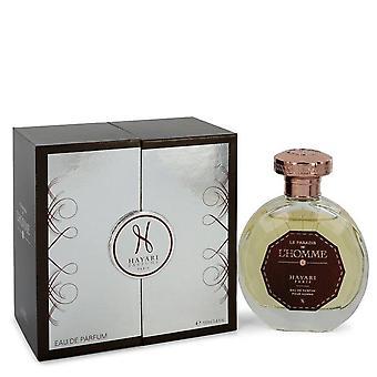 Hayari Le Paradis De L'homme Eau De Parfum Spray By Hayari 3.4 oz Eau De Parfum Spray
