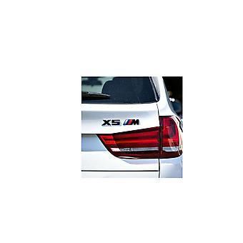 Gloss Black BMW X5 M Letters Rear Boot Lid Trunk Badge Emblem For X Series E53 E70 F15 G05 165mm x 25mm