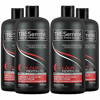 TRESemme Colour Revitalise Colour Fade Protection Shampoo, Pack of 4, 900ml