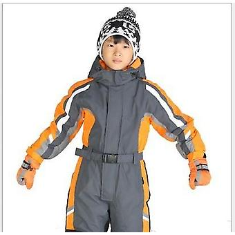 Winter One-piece Waterproof Ski Suit-boys Warm Jumpsuit, Thermal Outdoor Suit