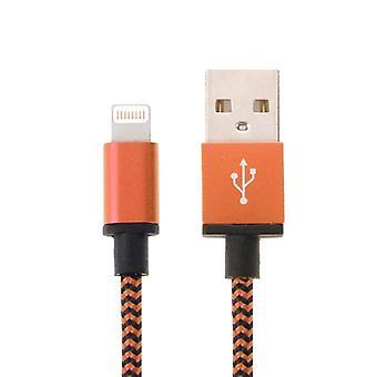 2m Kudottu tyyli 8 nasta USB-synkronointitietoihin / latauskaapeliin, iPhone 6 &; 6 Plus, iPhone 5 &; &5S ja 5C, iPad Air 2 &; Ilma, iPad mini 1 / 2 / 3, iPod touch 5