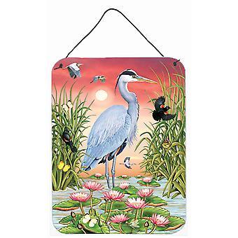 Carolines Skatter PRS4015DS1216 Stora Blå Heron Vägg eller Dörr hängande utskrifter