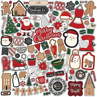 Echo Park Un adesivo per elementi natalizi di pan di zenzero da 12x12 pollici