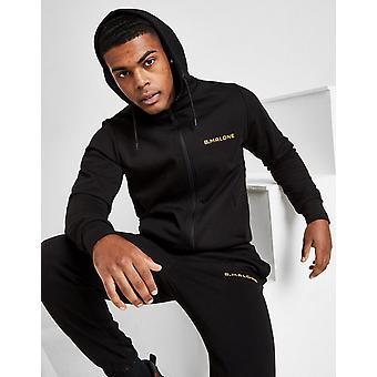 New B Malone Men's Full Zip Hoodie Black