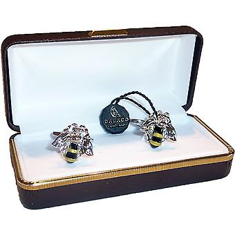 Bee Cufflinks by Dalaco - Gift Boxed - High Quality - Keeper Bumble Wasp Flying