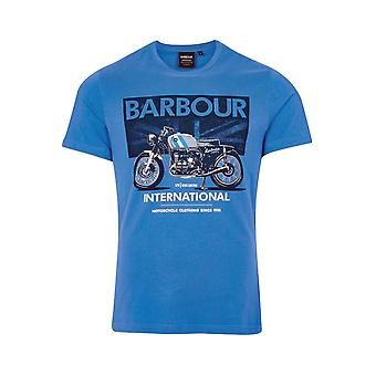 Barbour International Greenwood Tee Pure Blue