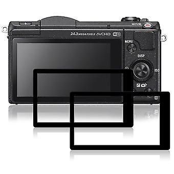 Afunta Bildschirmprotektoren für Sony a5100, 2 Packungen Anti-Kratz-gehärtetem Glas Schutzfolien für ds