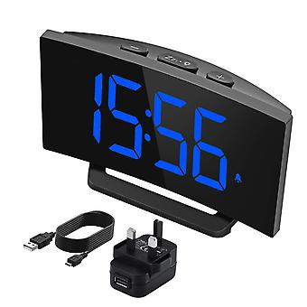 Mpow digital alarm clock, digital led clock bedside mains powered with snooze function, 1-minute eas