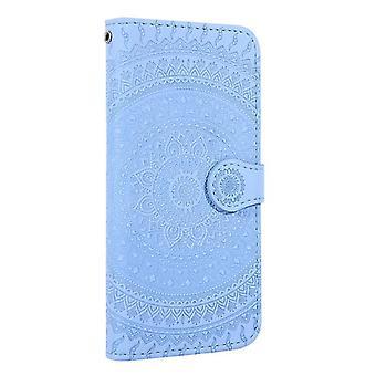 Samsung Galaxy A6 (2018) Flower Flip Case Cover - Blauw