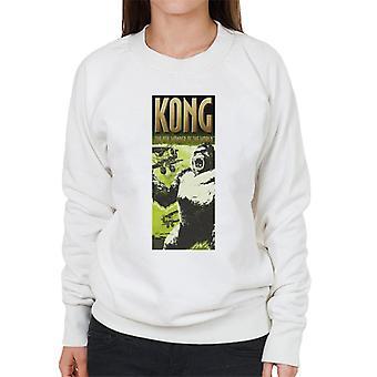 King Kong siendo enjaulado por Biplanes La 8a Maravilla del Mundo Mujeres's Sudadera