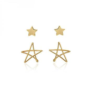 Joma Jewellery Florrie Gold Star Stud Earrings 3941