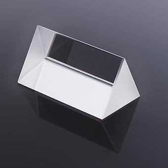 5cm Optical Glass Crystal Triple Triangular Prism Photography Physics Teaching Light Spectrum