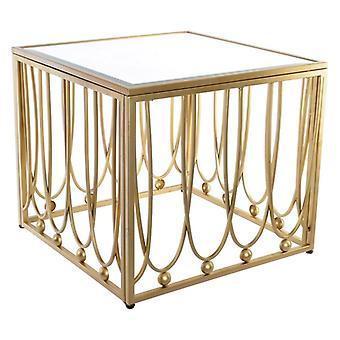 Table latérale Dekodonia Haendel Golden Metal Mirror MDF Wood (57 x 57 x 52 cm)