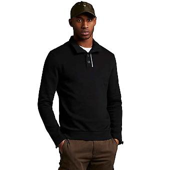 Lyle & Scott Casuals Funnel Neck Sweatshirt - Jet Black