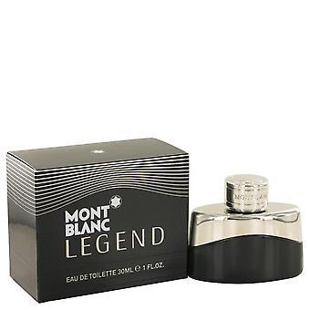 Montblanc legende Eau De Toilette Spray door Mont Blanc 1 oz Eau De Toilette Spray