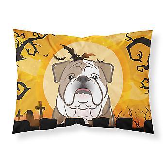 Caroline's Treasures Bb1777Pillowcase Halloween Bulldog Fabric Federa standard in tessuto Bulldog, grande, multicolore