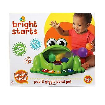 Bright starts pop and giggle pond pal