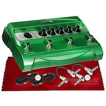 Linje 6 dl4 stompbox forsinkelse modellpakke med kabler og polering klut