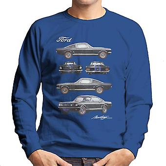 Ford Mustang multi view hombres's sudadera