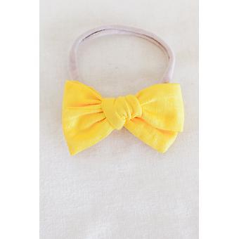 Pineapple Matching Headband Bow