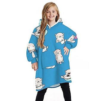 Kind Cartoon gedruckt warme Hoodies übergroße Hoodie Decke