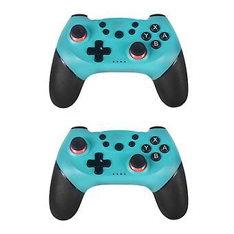 Вещи Сертифицированный® 2-Pack игровой контроллер для Nintendo переключатель - NS Bluetooth геймпад с вибрацией синий