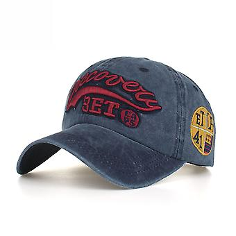 Washed Cotton Letter Discovery Embroidered Baseball Cap Peaked Cap Sun Hat