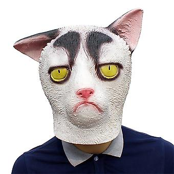 Halloween Latex Garfield Masker Hoofddeksels Cosplay Party Rekwisieten