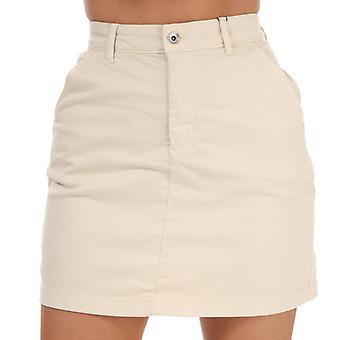 Women's Jacqueline de Yong Dakota Life Chino Skirt in Cream