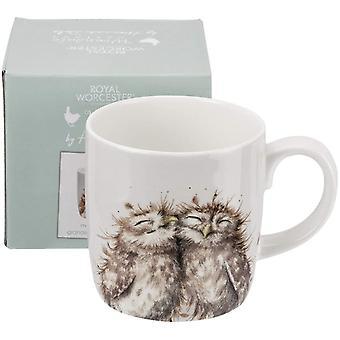 Gerui MMMR4020-XD Wrendale The Twits (Owl) Single Mug, Bone China, Multi-Colour, 9.2 x 12.5 x 9.3 cm