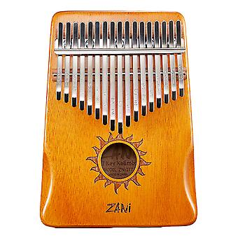 Kalimba Thumb Piano 17 Keys Portable Musical Instrument For Kids Orange